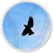 Hungry Bird Round Beach Towel