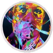 Hunter S Thompson Round Beach Towel