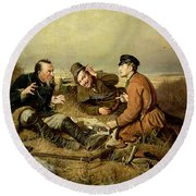 Hunters, 1816 Round Beach Towel
