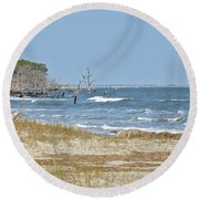 Hunting Island State Park Round Beach Towel