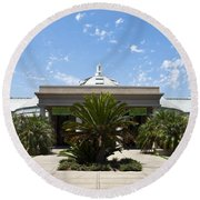Huntington Library Conservatory Round Beach Towel