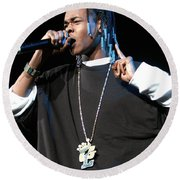 Hurricane Chris Round Beach Towel