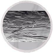 Hurricane Fighter Plane Relief Round Beach Towel