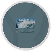 Hurricane Ike Round Beach Towel