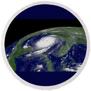 Hurricane Katrina Round Beach Towel