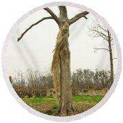 Hurricane Katrina Resurrection Tree Round Beach Towel