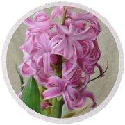 Hyacinth Pink Round Beach Towel