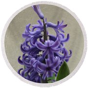 Hyacinth Purple Round Beach Towel