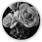 Hybrid Tea California Roses Round Beach Towel