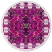 Hydrangea Abstract Round Beach Towel