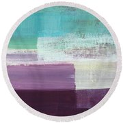 Hydrangea- Abstract Painting Round Beach Towel
