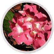 Hydrangea Flower Round Beach Towel