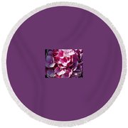Hydrangea Lavender Petals Round Beach Towel