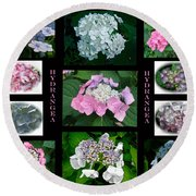 Hydrangeas On Parade Round Beach Towel