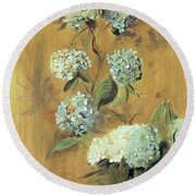 Hydrangeas Round Beach Towel by Paul Cesar Helleu