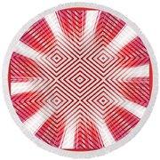 Hypnotic Vision Round Beach Towel