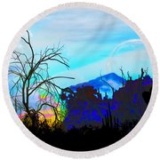 I Am And You Are The Moonset  Acknowledging And Accepting Our Past Mistakes- Autumn 1 Round Beach Towel