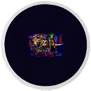 I Believe With Complete Faith In The Coming Of Mashiach 3 Round Beach Towel by David Baruch Wolk