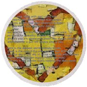 I Carry Your Heart Round Beach Towel