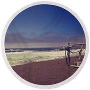 I Feel You Slipping Away Round Beach Towel