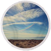 I Hope And I Dream Round Beach Towel by Laurie Search