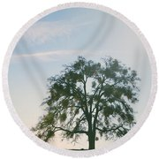I Live And Breathe For You Round Beach Towel