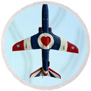 I Love Flying Round Beach Towel