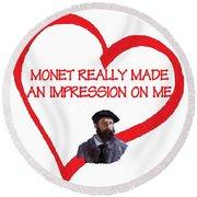 I Love Monet Round Beach Towel
