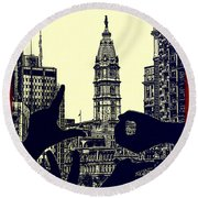I Love Philly Round Beach Towel
