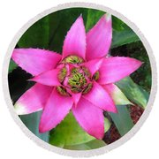 Pink And Beautiful  Round Beach Towel