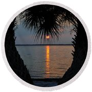 I Love Tampa Bay Round Beach Towel