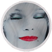 I Love To Smell Fresh Rain Round Beach Towel by EricaMaxine  Price