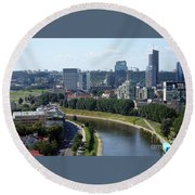 I Love You. Vilnius. Lithuania Round Beach Towel