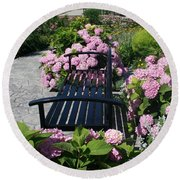 I Never Promised You A Rose Garden Round Beach Towel