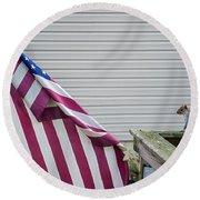 I Pledge Allegiance Round Beach Towel by Brian Wallace