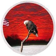 I Pledge Allegiance Round Beach Towel