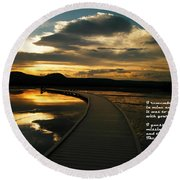 I Remember Your Hand Round Beach Towel by Jeff Swan