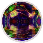 I Sing The Bubble Electric Round Beach Towel