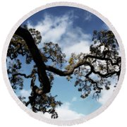 I Touch The Sky Round Beach Towel by Laurie Search