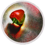 I Vote For A Really Hot Sweet Pepper Round Beach Towel