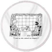 I Want My Ashes Scattered Over Bergdorf's Round Beach Towel by Victoria Roberts