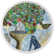 I Will Dwell In The Land Of Hope Round Beach Towel