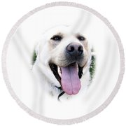 I Love You - I Woof You Round Beach Towel