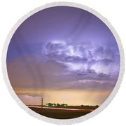 I25 Intra-cloud Lightning Strikes Round Beach Towel by James BO  Insogna