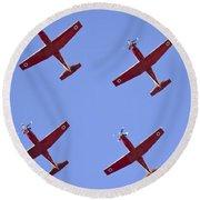 Iaf Flight Academy Aerobatics Team 4 Round Beach Towel
