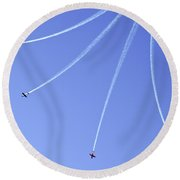 Iaf Flight Academy Aerobatics Team 5 Round Beach Towel