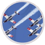 Iaf Flight Academy Aerobatics Team 6 Round Beach Towel