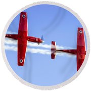 Iaf Flight Academy Aerobatics Team-a Round Beach Towel