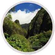 Iao Needle - Iao Valley Round Beach Towel