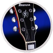 Ibanez Af75 Electric Hollowbody Guitar Headstock Round Beach Towel